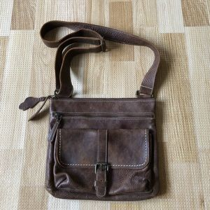 Handbags - Roots leather crossbody bag